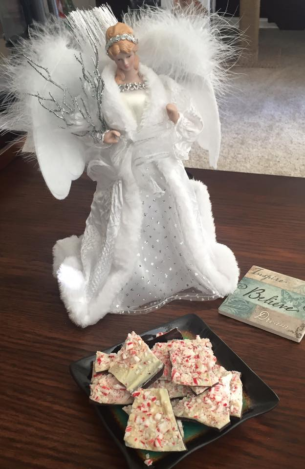 Peppermint Bark with Angel